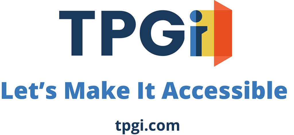 TPGi logo - Let's make it accessible